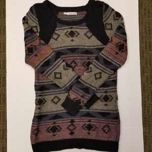 Maurices sz 0 aztec multi color sweater